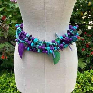 Vintage Carolyn Tanner Purple, Green & Blue Belt